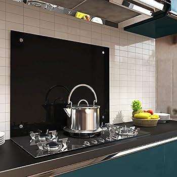 Melko Spritzschutz / Herdblende aus Glas, für Küche, Herd, Fliesen ...