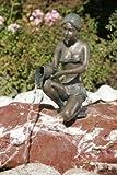 Alessia mini Bronzefigur Skulptur aus Bronze echte Handarbeit Gartenskulptur Gartenfigur Garten-Statue
