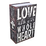 Cassetta di sicurezza,Haofy libro del libro Nascosto libro di diversione sicuro con combinazione(LOVE款)