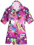 LA Leela Aloha Party Hawaii Bluse Tops Frauen Shirt Weihnachten WEIHNACHTSMANN Jingle Bells Weihnachtsbaum Rosa_AA98 M - DE Größe :- 44-46