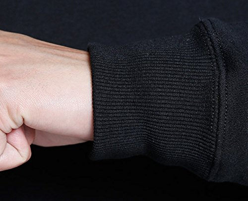 BOODUN Sweat-shirt à capuche en molleton unisexe Sweat-shirt à capuche avec fermeture à glissière Sweat à capuche noir