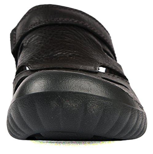 Clarks Wirrel Beat, Sandales Bout fermé Homme Noir (black Leather)