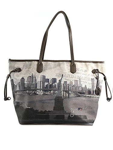 Y NOT BORSA DONNA Shopping Gigante DA SPALLA NEW YORK Aut/Inverno 2016 G356