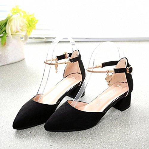 Sandales d'été,OVERMAL Sandales Compensées femme Chaussures à Talons Hauts Noir