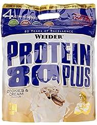 Weider, 80 Plus Protein, Cookies & Cream, 1er Pack (1x 2 kg)