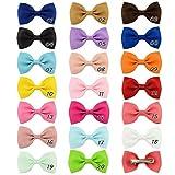 Wergem 20 Pcs/Set Enfants Mode Casual Chapeaux Mignons Duckbill Clip Bow Hair Clip Bandeaux