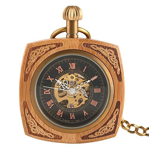 Herren Steampunk Skelett Hand Wind Mechanische Taschenuhr Kreative Zeiger Uhr