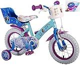 E&L Cycles Kinderfahrrad Disney Frozen - Die Eiskönigin mit Rücktrittbremse und Fahrradklingel 12 Zoll - 95% vormontiert