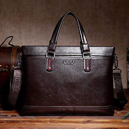GXKFFF Einheit agent männliche handtaschen business casual - koffer laptop - tasche Männer - Beutel Tragbare Braun beim Absatz - Agent-laptop-tasche