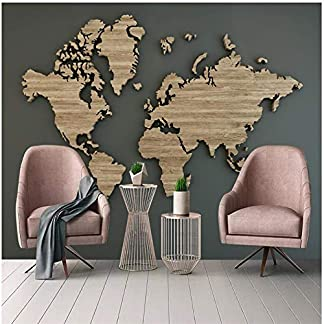 Papel Pintado 3D Mrales Mapa Retro Del Mundo De Grano De Madera Retro Foto Mural Pared salón Fotomurales Decorativos Pared Papel