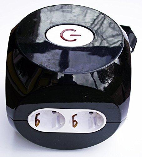 Design Steckdosen Würfel Steckdosenwürfel mit Kinderschutz, Schalter und USB-Anschlüsse 4x Eurosteckdosen, 2x Schukosteckdosen und 2x USB Anschlüsse