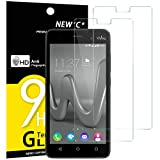 NEW'C Verre Trempé pour Wiko Lenny 3,[Pack de 2] Film Protection écran - Anti Rayures - sans Bulles d'air -Ultra Résistant (0,33mm HD Ultra Transparent) Dureté 9H Glass