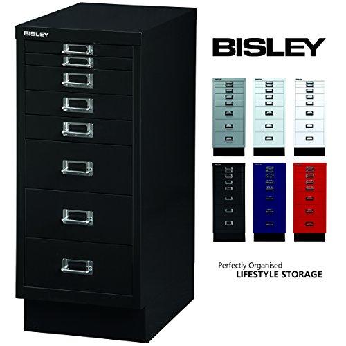 BISLEY Schubladenschrank 29 aus Metall   Schrank mit 8 Schubladen und Sockel   Büroschrank DIN A4  ...