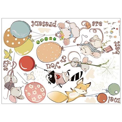 U.Expectating Wolken mit Gesicht Wandtattoo Kinderzimmer Set Karikatur Wandsticker Pastell Farben Baby Tapete Sticker zum Kleben Wandaufkleber Sleepy Wanddeko Wandfolie Kleinkinder Wandaufkleber (D) (Kleinkind Mädchen Schlafzimmer-sets)