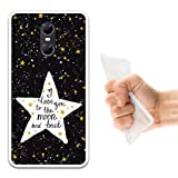 WoowCase Ulefone Gemini Hülle, Handyhülle Silikon für [ Ulefone Gemini ] Star Satz - I Love You to The Moon and Back Handytasche Handy Cover Case Schutzhülle Flexible TPU - Transparent
