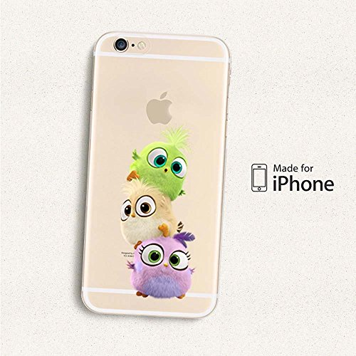 Angry Birds TPU Soft Case für Apple iPhone 6/6S & 6 + 6 + S, Kunststoff, rot, Apple iPhone 6/6S 3 BIRDS