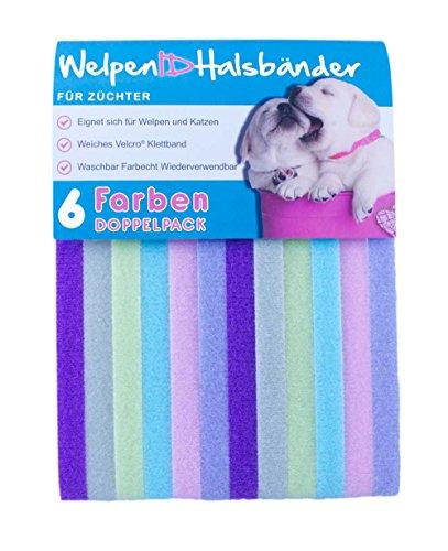 Preisvergleich Produktbild 6 WelpenIDHalsbänder - Doppelpack - Pastelle / Large 40cm