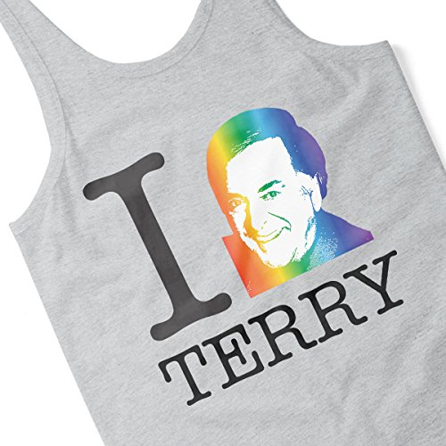 I Heart Terry Wogan Rainbow Women's Vest Heather Grey