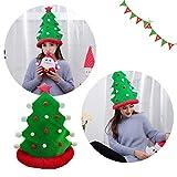 Gaddrt Weihnachtsmütze Weihnachtsbaum-lustige Partyhüte Weihnachtshüte Plüsch-Kostüm, Outfit Neuheit Spielzeug