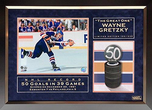 Wayne Gretzky NHL Record 50 Goals in 39 Games Ltd Ed of 239 - Edmonton Oilers -