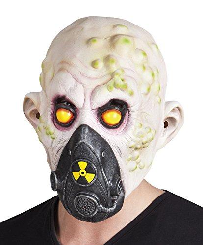 Fancy Ole - Halloween Kostüm Latex Maske Nukleares Opfer, (Biss Opfer Kostüm Vampir)