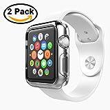 [2 Pezzi] Custodia Cover Apple Watch 42mm,iVoler Custodia Protettiva Trasparente Ultrasottile Di Gel In Silicone TPU 0,3 Mm per Apple Watch 42 mm (Apple Watch 42 mm Custodia)