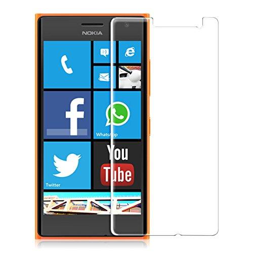 kwmobile Nokia Lumia 730 / 735 Folie - Glas Handy Schutzfolie für Nokia Lumia 730 / 735 (kleiner als das Bildschirm)