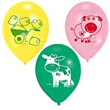 amscan Luftballon Farm Fun rund sortiert 6 Stück