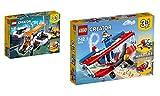 LEGO Creator 2er Set: 31071 Forschungsdrohne + 31076 Tollkühner Flieger