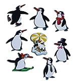 Kühlschrankmagnete Pinguin Magnete für Magnettafel Kinder stark 8er Set Tiere lustig mit Motiv Comic Pinguine