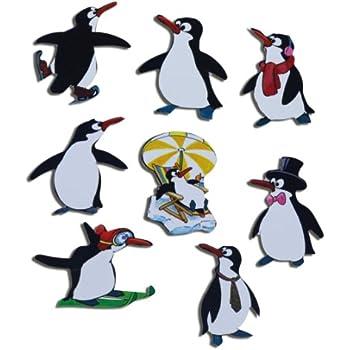 k hlschrankmagnete pinguin magnete f r magnettafel kinder stark 8er set tiere lustig mit motiv. Black Bedroom Furniture Sets. Home Design Ideas