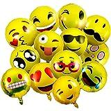 vientiane Emoji Ballons, 26 pièces Ballon en Aluminium Ballons À L'hélium Expression Faciale Ballons Emoticon Smiley Anniversaire Vacances Fête De Mariage Décoration...