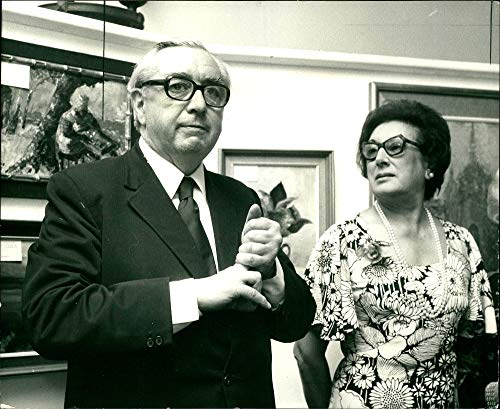 Fotomax Vintage Photo of Lord George Brown with Jean Bendit Zucker at The House of Commons