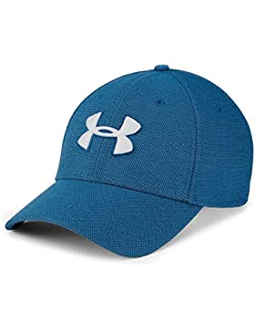 Under Armour Men's Heathered Blitzing 3.0 Gorra, Hombre, Azul (487), L