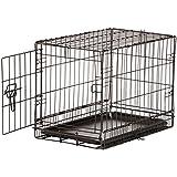 AmazonBasics Hundekäfig mit 1 Tür, Metall, zusammenklappbar, Gr. XS