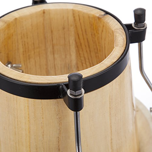 RockJam Professional Bongos With Deluxe Padded Bag - Natural