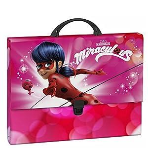 Lady Bug Miraculous 511712694, Maletín cartón, color rosa