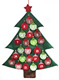 Image of Brauns Heitmann 82016 Adventskalender Weihnachtsbaum mit Glöckchen zum Befüllen, 97 x 75 cm