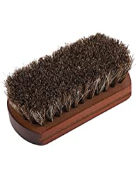 Zerone Shoes Brush,Shoes Cleaning Brush Horse Hair Brush with Wooden Base Dust Dirt Removal Shoe Accessory
