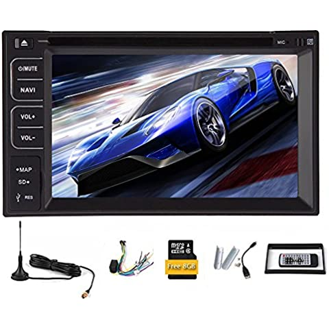 Universal Stereo 2 Din DVD de radio RDS Automotive Audio Video de coches reproductor de m¨²sica BT del coche de Autoradio En Monitor de cubierta ganar 8 Aux TV digital