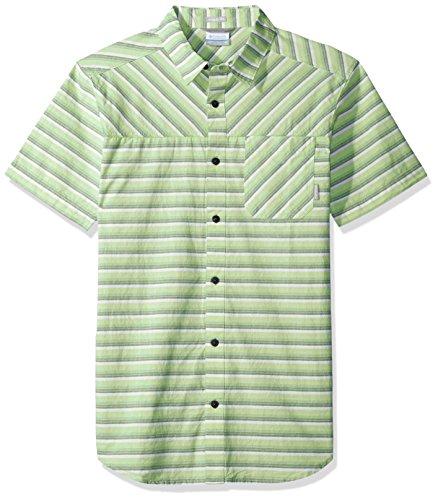 Yarn Dye Stripe Shirt (Columbia Men's Thompson Hill Yarn Dye Short Sleeve Shirt, Fission Stripe, Large)