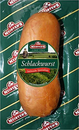 Bautzner Schlackwurst frisch schmeckt wie früher traditionelle deutsche Premium Rohwurst geräuchert über Buchenholz 250g