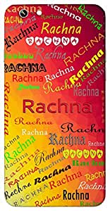 Rachna (Popular Girl Name) Name & Sign Printed All over customize & Personalized!! Protective back cover for your Smart Phone : Samsung A7 ( 2016 Edition )