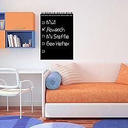 denoda Tafelfolie - Aufgabenliste - Wandtattoo Schwarz 25 x 37 cm (Wandsticker Wanddekoration Wohndeko Wohnzimmer Kinderzimmer Schlafzimmer Wand Aufkleber)