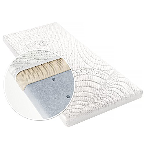 Alvi Colchón para minicuna - TENCEL® & Dry - 90 x 40 cm / Funda antihumedad / Espuma perforada / Cámara de aire 3D / Hipoalergénico / Sin sustancias nocivas