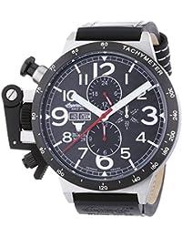 Ingersoll  Bison N0.28 - Reloj de automático para hombre, con correa de cuero, color negro