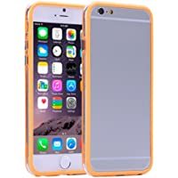 Plastica Trasparente + TPU Bumper Frame Case per iPhone 6(Arancione)