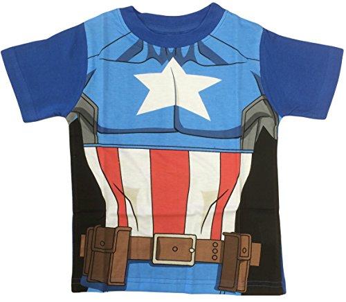 Marvel Avengers Captain America Kostüm T-Shirt auch geeignet für Kleid bis - Captain America Kostüm T-shirt