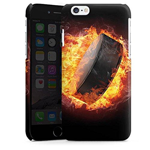 Apple iPhone SE Housse Outdoor Étui militaire Coque Hockey sur glace Flammes Palet enflammé Cas Premium brillant