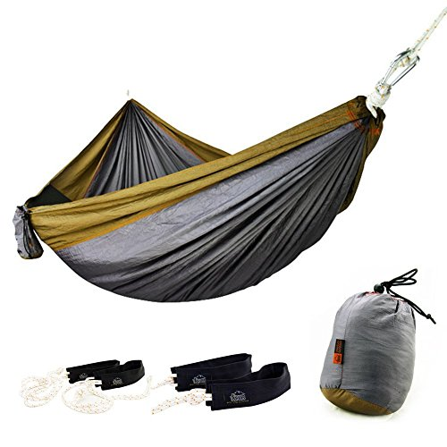 paracity Doppel Camping Hängematte Hängematte leicht Nylon tragbar, Best Parachute Doppel...